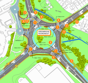 Greenbridge roundabout